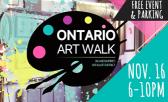 Mark Your Calendars for the Ontario Art Walk on November 16th