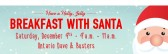 Save the Date for Breakfast with Santa on December 9th