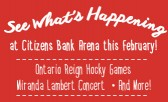 Citizens Bank Arena has a Full Calendar of Events for February